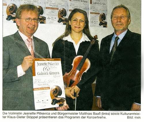 Zeitungsausschnitt 1. Konzertreihe Viernheim